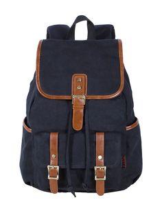 Xiaokesong@Mode Vintage Canvas PU sac d'école sac à dos en cuir pour Campus de plein air Voyage (Army vert): Amazon.fr: Sports et Loisirs