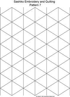 Sashiko Pattern 2: Sashiko Pattern 7