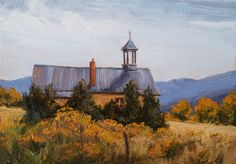 """SOLD-""""Autumn Goldenrod"""" (5x7) by Dix Baines is one of a dozen 5x7 paintings that sold through the Annual Dix Baines Studio 5x7 Auction. This year's auction will be November 14,2015. www.dixbainesblog.com www.dixbaines.com"""