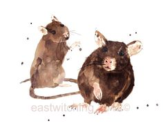 #RATS Art Print rat #paintings rat art by eastwitching on Etsy, $25.00