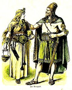 Plate #7b - Ancient Germans - The Teutonic Tribes