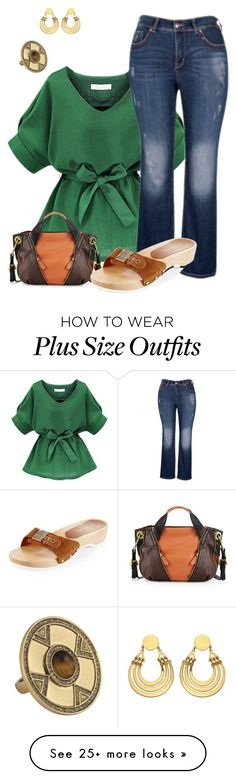 """""""plus size boho  chic"""" by kristie-payne on Polyvore featuring mode, Melissa McCarthy Seven7, Oryany, House of Harlow 1960, women's clothing, women, female, woman, misses en juniors"""