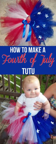 How To Make A Fourth Of July Tutu #diy #patriotic #crafts