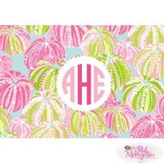"""Lilly Pulitzer Foldover Note in """"Seaurchin"""""""