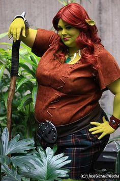 DIY Plus Size Shrek Princess Fiona Halloween Costume Idea