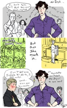 *Is immensely pleased* Why THANK you John. Tis a nice thing you did for the Fando-um I mean Sherlock. >w>