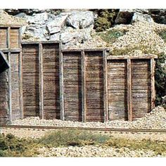 Ho Scale Trains, Ho Trains, Model Trains, Forte Apache, Stone Retaining Wall, Retaining Walls, Wing Wall, Curved Walls, Model Train Layouts