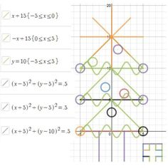 Coordinate Grid Christmas Tree