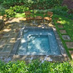 Woodland SPA - traditional - Pool - Other Metro - Barry Block Landscape Design & Contracting, Inc. I love this one - just right!