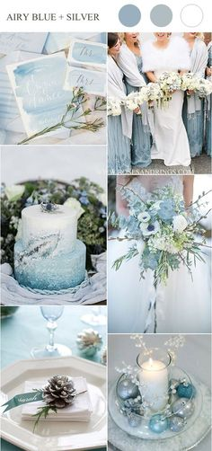 airy blue and silver winter wedding colors wedding weddings weddingcolors winterweddings rar weddingideas winter 229894755965653569 Silver Winter Wedding, Winter Wedding Colors, Summer Wedding, Dream Wedding, Winter Weddings, Blue Weddings, Burgundy Wedding, Gown Wedding, Wedding Rings
