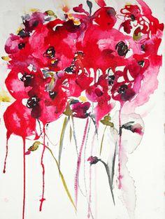 """Saatchi Online Artist Karin Johannesson; Painting, """"Poppies en masse X"""" #art"""