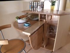 10 Ideas To Use Small Folding Tables   -  To connect with us, and our community of people from around the world, learning how to live large in small places, visit us at www.Facebook.com/TinyHousesAustralia