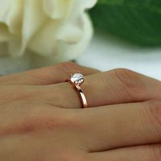 1/2 ct Promise Ring Engagement Ring Solitaire Ring Man Made