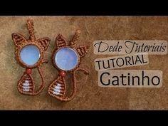 Dede Tutoriais ॐ Como fazer Gatinho em macramê #34 - YouTube