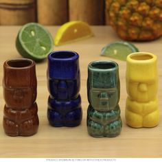 Tiki Gods Island Tiki Shot Glasses Set of 4 - Retro Planet