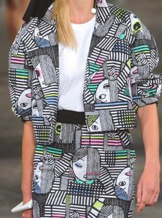 patternprints journal: PRINTS, PATTERNS AND SURFACES FROM NEW YORK FASHION WEEK (WOMAN COLLECTIONS SPRING/SUMMER 2015) / Yeohlee