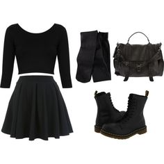 """Nu Goth"" by sombrepasteland on Polyvore"