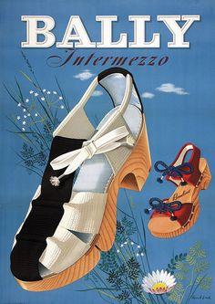 Poster by Hans Aeschbach / Bally Intermezzo / 1942