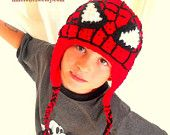 Wyatt Spiderman Handmade crochet Hat 0 TO 10. $24.29, via Etsy.