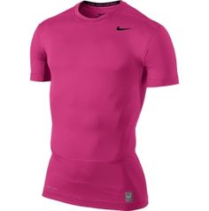 Nike Men's #pink Pro Combat Core Compression Shirt 2.0 - available @dkssports supporting #breastcancer