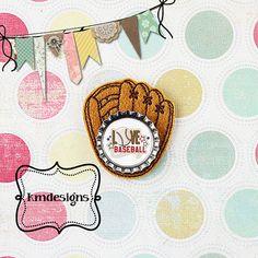 Bottle cap Baseball Mitt Glove ITH Embroidery design file