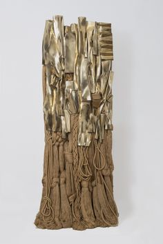 """philamuseum:  Just ten days left to see """"Barbara Chase-Riboud: The Malcolm X Steles."""" Don't miss your chance to encounter these large bronze-and-fiber sculptures, which the Philadelphia Inquirer called """"dazzling monuments to duality,"""" along with a selection of drawings by the artist. """"Malcolm X #11,"""" 2008, Barbara Chase-Riboud. Courtesy of Noel Art Liaison, Inc."""