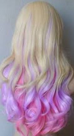 Pink and purple blonde hair