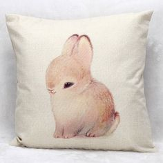 6.29$  Watch here - http://dig23.justgood.pw/go.php?t=170887601 - High Quality Bunny Printed Pattern Square Shape Pillow Case???Without Pillow Inner???