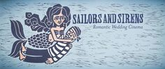 Sailors and Sirens Romantic Wedding Cinema  | © by Elisa Fior | Illustration created for Daniele Padovan - Photographer