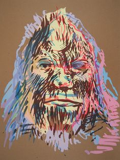 cool bigfoot art, umm can I get a poster of this for my room please?
