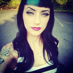 Aaaahhhh my friend was searching pinterest for psychobilly hair and found me! I've seen my legs and hands on here but this is a first! :D
