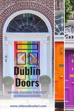 Dublin doors are some of the most photogenic in the world. Want to know the best places to find the doors of Dublin? Check out this local's guide and find out exactly where to look. Discover Instagrammable Dublin at its finest. The doors of Ireland cannot be beat.