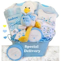 Personalized rocking horse baby boy gift gifts baby and shower cashmere bunny personalized a special delivery boys gift basket asd b negle Gallery