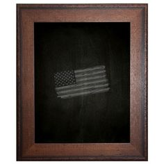 "Darby Home Co Timber Estate Chalkboard Size: 30"" x 36"""