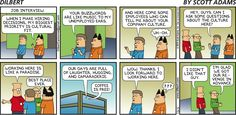 The hiring process can be crazy, as in this #Dilbert cartoon. Learn more about #HumanResources in this six-week class: ttp://www.ed2go.com/cbc123/online-courses/understanding-human-resources-function