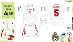 Mexico away kit for the 1998 World Cup Finals.