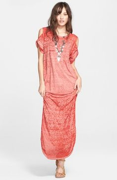 Free People 'Kick Around' Cold Shoulder Maxi Dress available at #Nordstrom
