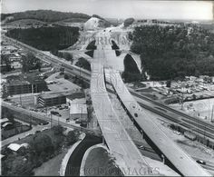 1976 Press Photo Alabama-Aerial view of Interstate 20 crossing over Highway 78