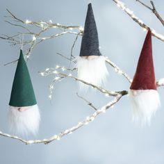 Gnome ornaments - DIY ornaments - unique ornaments