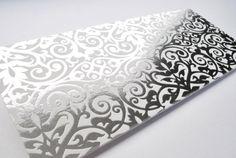 #silver #foilstamp #wedding #invitation #ornate #pattern #foilshimmer #design #stationery #details