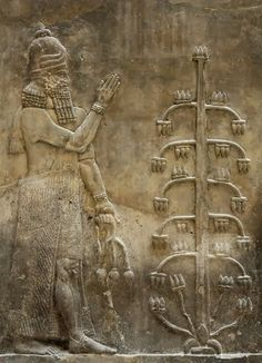 """Dur-Sharrukin (""""Fortress of Sargon""""), Genie poppy, present day Khorsabad, was the Assyrian capital in the time of Sargon II of Assyria."""