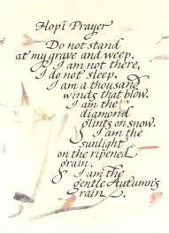 Hopi Native Indian Prayer