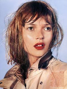 Kate Moss by Richard Burbridge | Published by Harper's Bazaar, September 1999 #beauty #hair #redlipstick