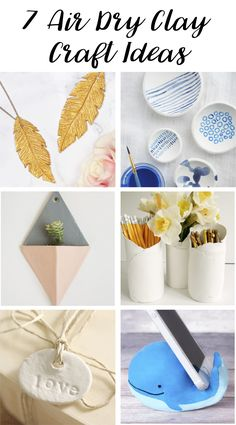 This is a collection of beautiful crafts that can be made from air dry clay, ranging from jewellery to home decor. I love air dry clay the possibilities are endless and it's so easy to work with!