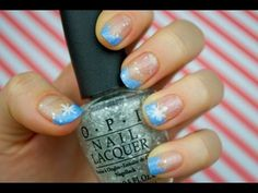 ❄ Easy Winter Wonderland Nails ❄
