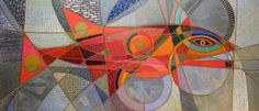 Beast of Prey / Large Red Fish. 2011 Oil on canvas 60x140 cm