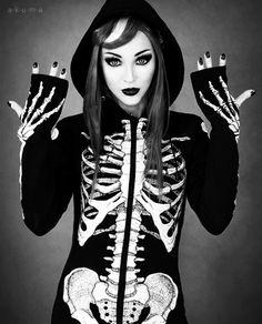 """Veste Restyle Gothique """"Skeleton"""""""
