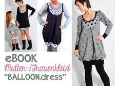 """Nähanleitungen Mode - eBOOK # 59 ✪ Frauen-/Mutterkleid """"BALLOON... - ein Designerstück von leni-pepunkt bei DaWanda"""
