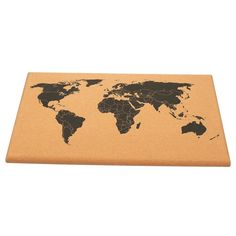 """Package IncludesCork Board Map of The World - Wall Mount Bulletin Board with Pins, 23.5 x 15.75"""" x 1Item DescriptionCork Board Map of The World - Wall Mount Bulletin Board with Pins, 23.5 x 15.75""""Cork Board Map of The World - Wall Mount Bulletin Board with Detailed World Map, Black Printed Frameless World Travel Map with Pins, 23.5 x 0.75 x 15.75 inchesCORK BOARD WORLD MAP: This decorative world map is printed on natural cork with black markings in the shape of a map of the world. Perfect for ho World Map Decor, World Map Wall Art, Travel Map Pins, Travel Maps, Cork Board Map, Detailed World Map, Map Wall Decor, Cute Pins, Wood Colors"""