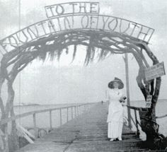 From the book, Weird Florida - an historic photo of St. Augustine, Florida's fabled Fountain of Youth tourist attraction